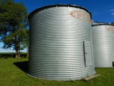 BUTLER 3050 BU +- CORRIGATED STEEL GRAIN BIN W/WOOD FLOOR,LOCATED @39427 RNG RD 250, LACOMBE