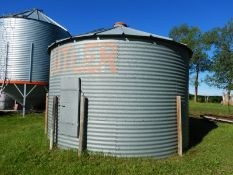 BUTLER 1500 BU+- GRAIN BIN - NO FLOOR, LOCATED @ 39427 RNG RD 250, LACOMBE COUNTYTO VIEW: CALL TED @