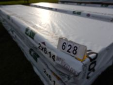 42 PC- 2X6X14 FT PLANED LUMBER (GRADE 2 OR BETTER)