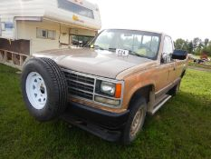 1989 GMC CHEYENNE K2500 4X4 PICKUP TRUCK 5.7 L-V-8 GAS, 5OD MANUAL TRANS, REG CAB, LONG BOX,