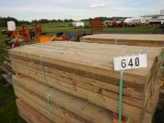 84 PC 1X6X6FT ROUGH PRESSURE TREATED FENCE BOARDS