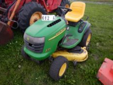 "JD L120 LAWN TRACTOR W/48"" DECK, 20HP BRIGGS & STRATTON ENGINE"