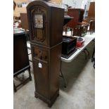 VINTAGE 1930'S HAMMOND CLOCK W/ DEFOREST CROSLEY RADIOFLOOR MODELS/N 4050019 BUILT BY McLAGAN