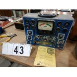 L/O RADIO & TUBE TEST EQUIPMENT INCLUDING EICO MODEL 232 PEAK TO PEAK VTVMECO 625 TUBE TESTER,
