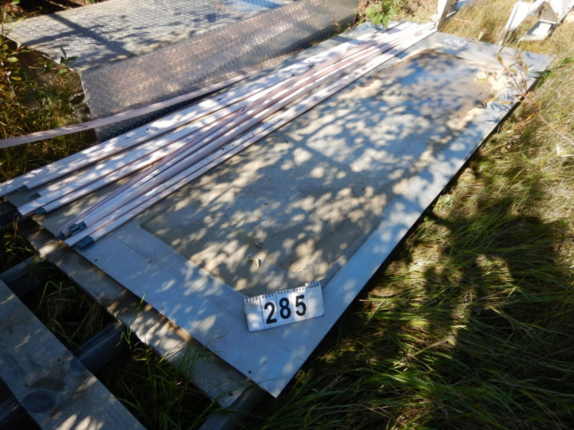 """2-SHEETS OF STAINLESS ALUM - 52""""X10FTX1/8"""" - Image 2 of 2"""