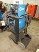 MILLER XMT350 CC/CV POWER SOURCE W/ MILLER 22A/24B WIRE FEEDER W/ CABLE & CARTS/N LF450041A, S/N