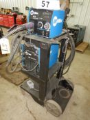 MILLER XMT350 CC/CV POWER SOURCE W/ MILLER 22A/24B WIRE FEEDER W/ CABLE & CARTS/N LG350125A, S/N