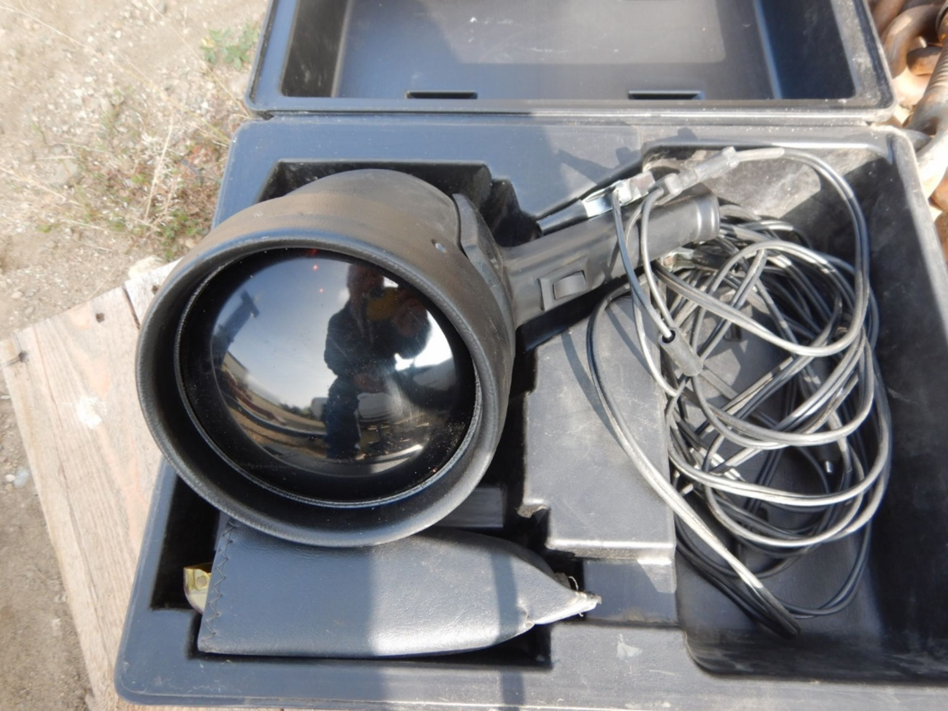 Lot 389 - LOAD BOOMER, BOOSTER CABLES, WEB STRAPS, JIG SAW, ETC