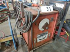 IDEAL ARC AC 280 LINCOLN WELDER W/CABLES & CART