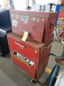 SEARS MECHANICS TOOLS CHEST W/TODCO TOP BOX
