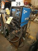 MILLER MILLERMATIC 140 AUTO SET 120V WIRE WELDER W/ CART & WIRE FEEDER, 1 PH, (24 GA-3/16 MILD