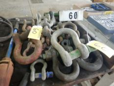 L/O ASSORTED LARGE SHACKLES & PINS