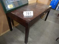 "60""X42"" OFFICE WORK TABLE W/ DRAWER"