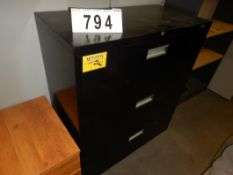BLACK 3-DRAWER LATERAL FILE CABINET
