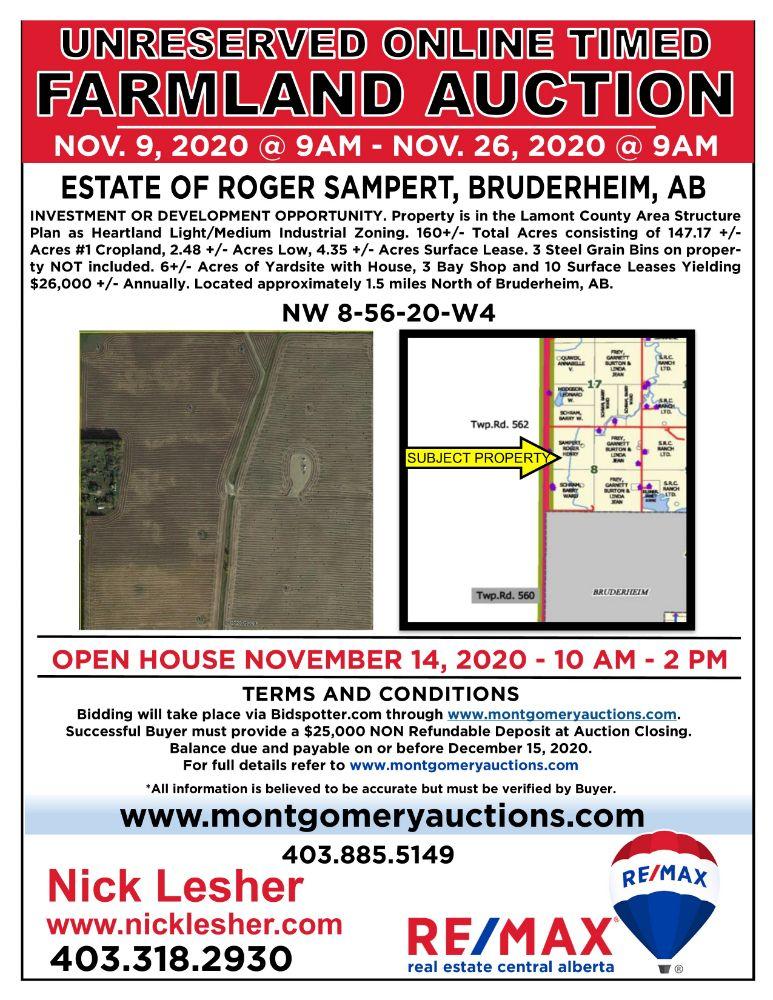 On-line Timed Land Auction for the Estate of Roger Sampert