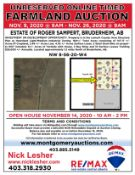 On-line Timed Land Auction for the Estate of Roger Sampert