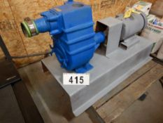 "FRANKLIN ELECTRIC MODEL F1T-30 3"" WATER PUMP W/ 10HP 3PH ELECTRIC MOTOR, PUMP S.N 12E19-23-05046P"