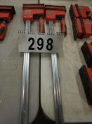 "2-BESSEY HD 25"" BAR CLAMPS"