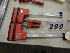"2-BESSEY HD 12"" BAR CLAMPS"