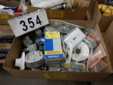 L/O DOMESTIC ELECTRICAL RECEPTICALS, MARQUETTES, STAPLES, SWITCH PLATES, ETC