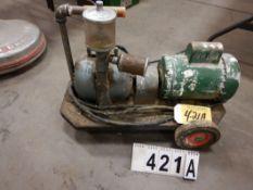 VINTAGE JOB SITE AIR COMPRESSOR, 1HP 110V