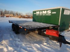 1983 HOME MADE FLAT DECK 7X16 FT T/A TRAILER, S/N T0L280205161, CURRENT CVIP*REGISTERED IN ALBERTA*