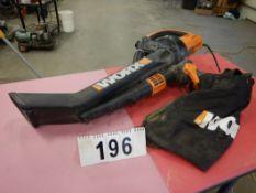 WORX ELECTRIC INDUSTRIAL HAND HELD LEAF BLOWER/ VACUUM