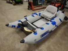 SEA-EAGLE INFLATABLE BOAT W/ SEATS, PADDLES, PUMP, MINI KODA 12V INDURA SEA 2 - 12V 5SPD MOTOR,CARRY