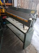 "BUSY BEE SHEET METAL PAN & BOX BRAKE, 48"" X 14GA, USED ONCE. LOCATED @ MORNINGSIDE. TO VIEW CALL"