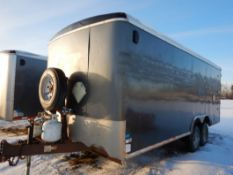 2014 TNT T/A ENCLOSED TRAILER 8.5 FT X 20 FT W/ MAN DOOR, DBL REAR DOORS, 2X8000 LB AXLES