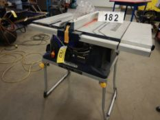 "MASTERCRAFT HAWKEYE LAZER 10"" TABLE SAW W/SLIDING TABLE & FOLDING STAND"