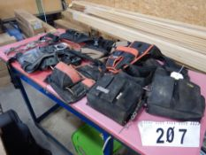L/O ASSORTED TOOL BELTS, SAFETY HARNESS, ETC