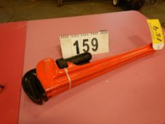 "2-RIDGID 24"" STEEL PIPE WRENCHES"