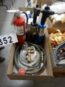 2-PROPANE TORCHES, LPG HOSES & REGULATOR, ABC FIRE EXTINGUISHER