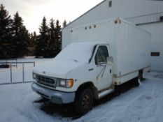 1997 FORD E350 CUBE VAN W/ DUAL WHEELS S/N 1FDKE30L2VHA87250, W/ ITB CUBE - INOPERABLE