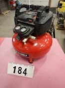 PORTER CABLE PANCAKE JOBSITE AIR COMPRESSOR 150 PSO, 6 GAL, 110V, S/N 2963027856