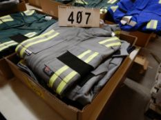 4-PR IFR GREY & NAVY SAFETY COVERALS, SIZE 38