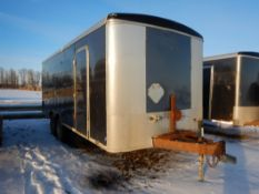2012 TNT T/A ENCLOSED TRAILER 8.5'x20 FT W/ MAN DOOR, REAR DBL DOORS, 2x8000Lb AXLES