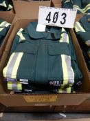 3-PR IFR GREEN SAFETY COVERALS, SIZE 34