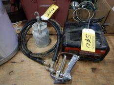 AIRLESS PAINT SPRAYER & POT, MASTERCRAFT BATTERY' CHARGERT W/ ENGINE START