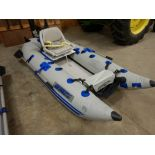 SEA-EAGLE INFLATABLE BOAT W/ SEATS, PADDLES, PUMP, MINI KODA 12V INDURA SEA 2 - 12V 5SPD