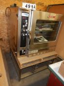 BLODGETT COMBI COS-8G CONVECTION OVEN/STEAMER NG, W/ STAINLESS STEEL STAND