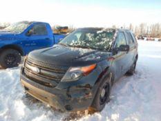 2014 FORD EXPLORER SPORT UTILITY 4 DR SUV, S/N 1FM5K8AR6EGA65859 3.7L V6 DOHC 24VTRIM - POLICE 4WD*