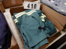 1-PR IFR GREEN SAFETY COVERALS, SIZE 42T
