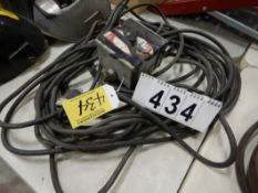 ADJUSTABLE WELDING CURRENT REMOTE W/POWER CABLE