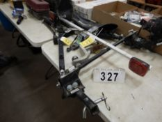 BLACK HAWK 8000LB TOW BAR, REESE TOW POWER HITCH W/ LIGHTS, ASSORTED TOWING ACCESSORIES
