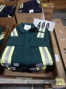 4-PR IFR GREEN SAFETY COVERALS, SIZE 32