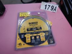 "2-DEWALT 12"" BLADES FOR MITER SAW (LOT 179)"