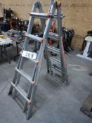 LITTLE GIANT COMBINATION ALUMINUM LADDER SYSTEM, MODEL 0103