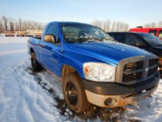 2007 DODGE RAM 1500 PICKUP TRUCK W/RC, SB, FLEX FUEL, MAGNUM 4.7L V8 AUTOMATIC